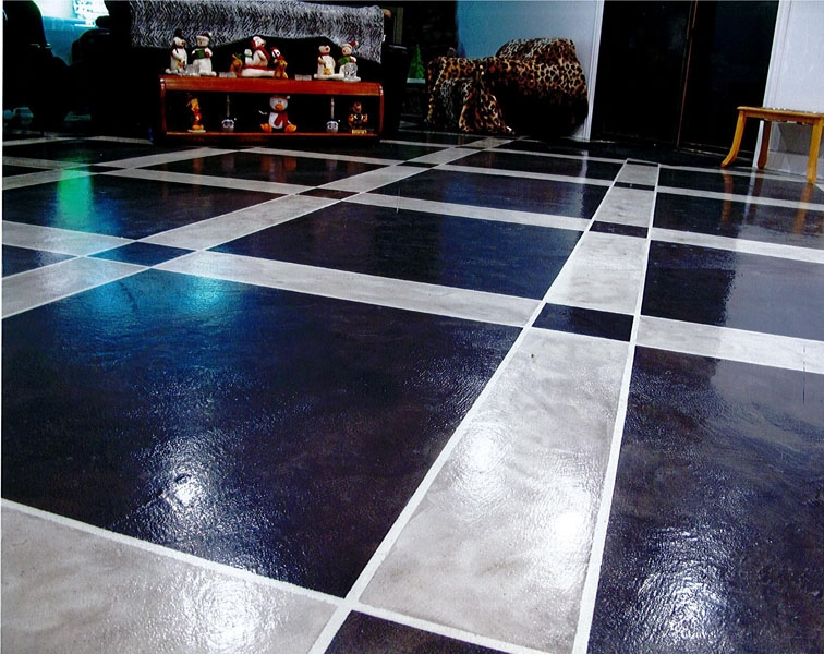 Microtopping floor
