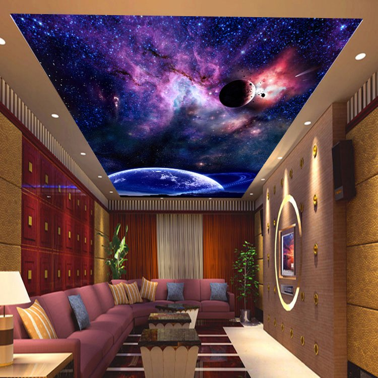 stretch ceiling pvc barrisol ceiling dubai with stars