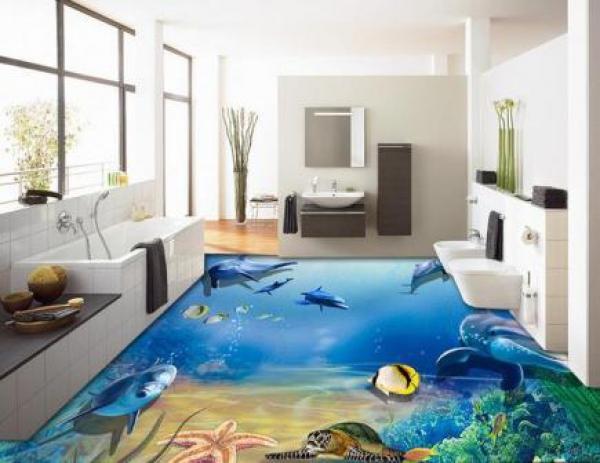 wood ceiling bathroom idea - 3D Epoxy Floors страница 7